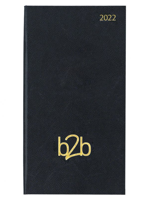 Strata Pocket Diary - Month to View Diary - White Pages - Black, 2022