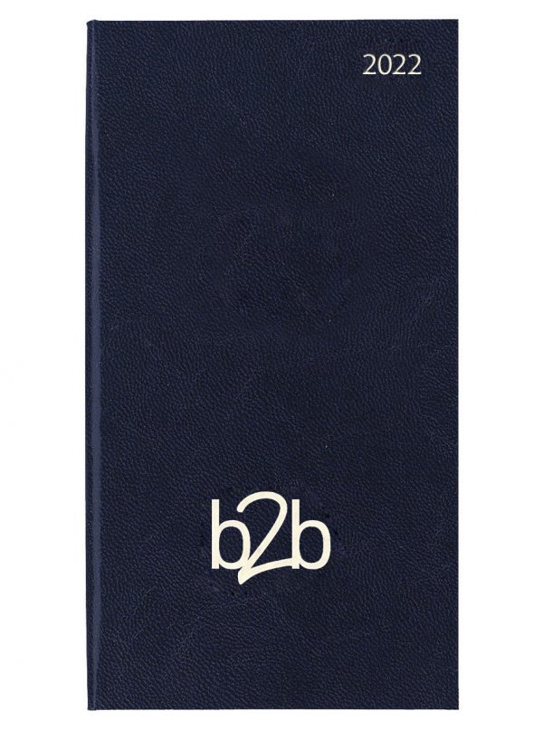 Strata Pocket Diary - Month to View Diary - White Pages - Blue, 2022