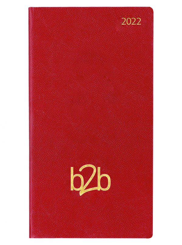 Strata Pocket Diary - Week to View Diary - White Pages - Red, 2022